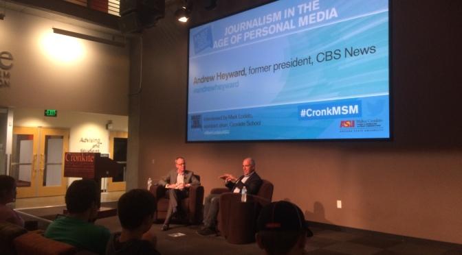 Former CBS President Andrew Heyward visits Cronkite School